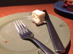 This cheesecake stood no chance.