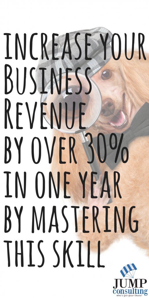Increase your Business Revenue by over 30% in one year by mastering this skill!