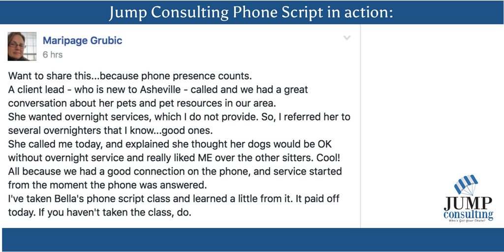 pet sitting phone script