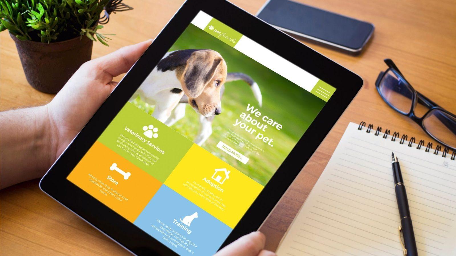 website design pet dog walking