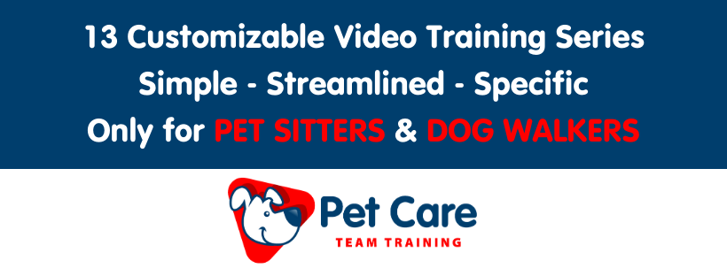video training pet sitters
