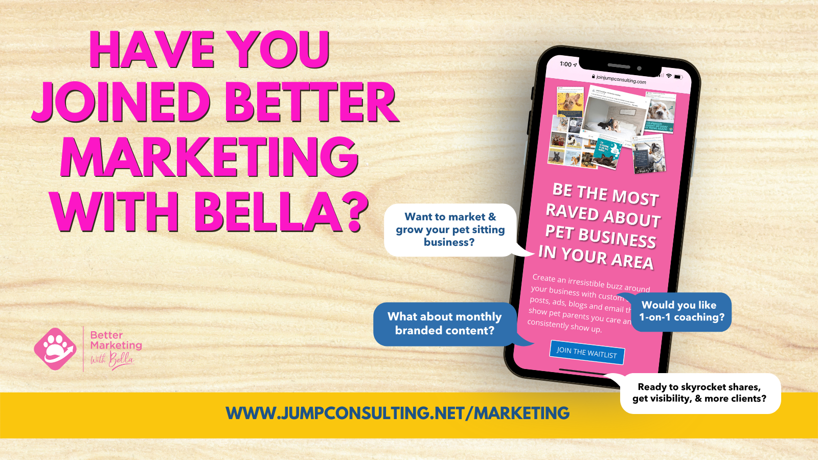 Better Marketing with Bella Sign Up